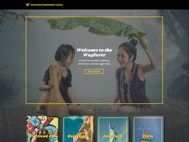 Wayfarer WordPress Travel Theme