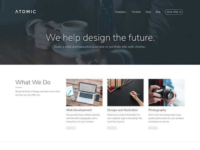 Atomic – Multipurpose WordPress Theme