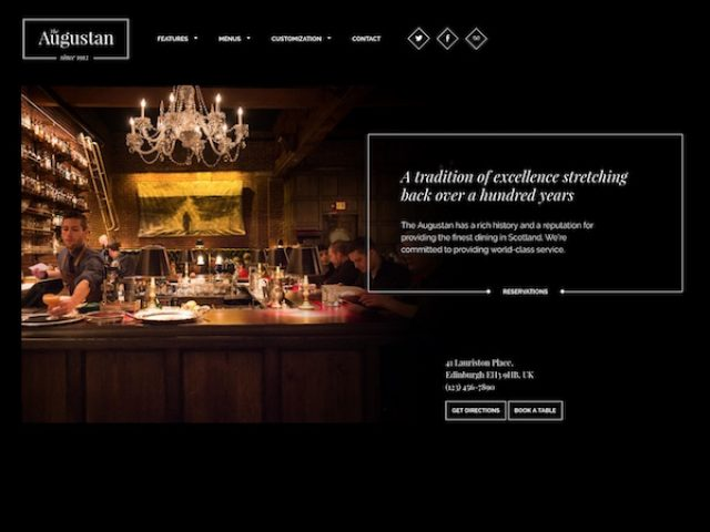 Augustan – Restaurant WordPress Theme
