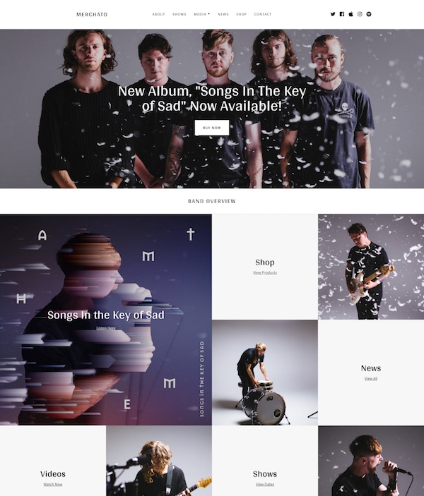 30+ Awesome Band & Music WordPress Themes for Musicians