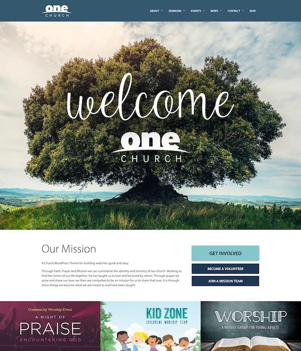 30+ Best Church WordPress Themes 2019