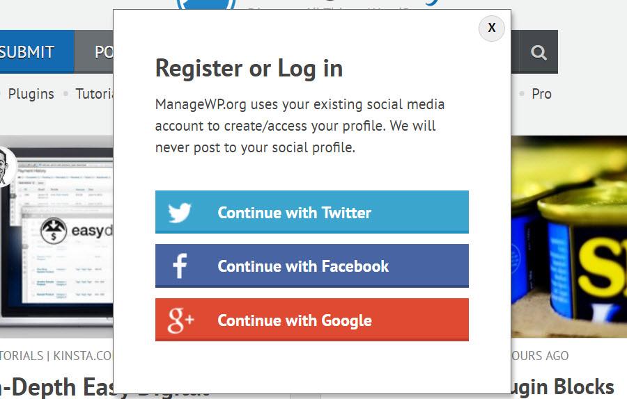 Membership site example