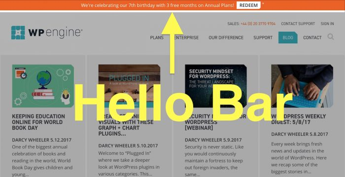 How to Use a Hello Bar to Generate Leads