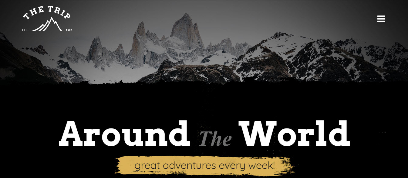 Travel Site Theme