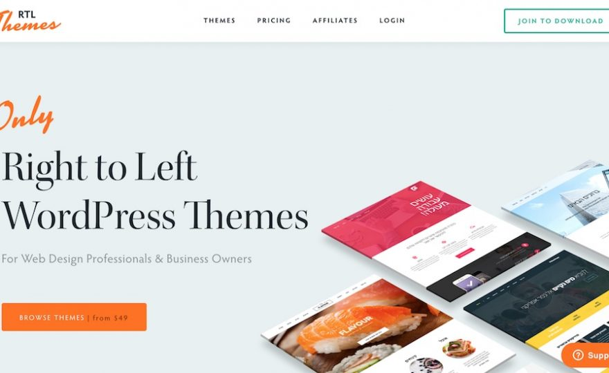 RTL Themes: Native Right to Left WordPress Themes