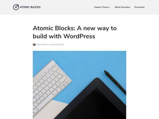 Atomic Blocks – Gutenberg WordPress Theme
