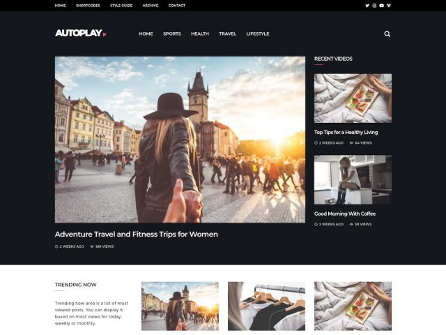 Autoplay – Video Magazine WordPress Theme