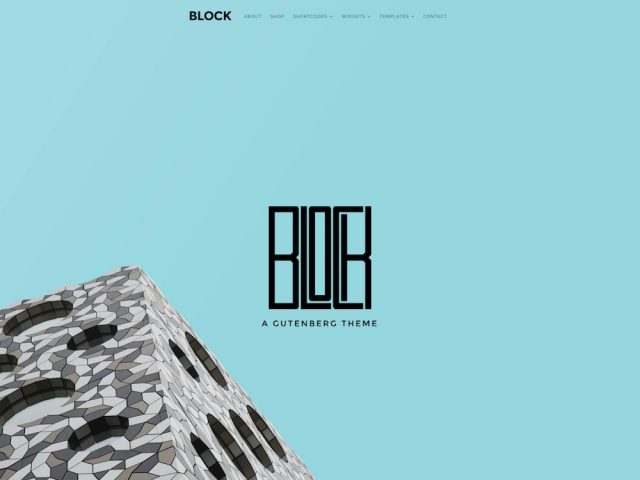 Block – A Gutenberg WordPress Theme