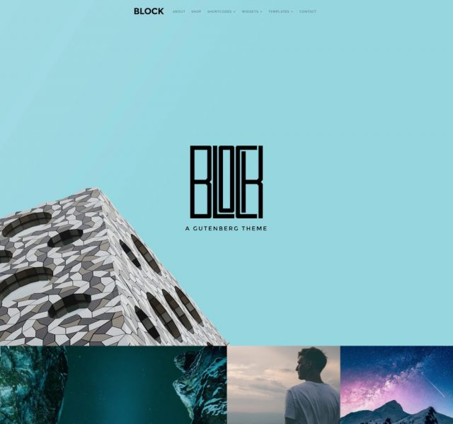 Block – A Gutenberg WordPress Theme