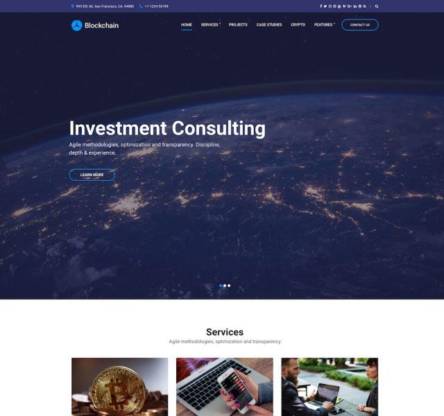 Blockchain – Cryptocurrency WordPress Theme