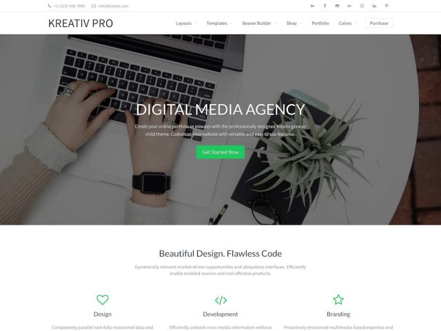 Kreativ Pro – Agency WordPress Theme