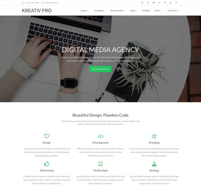 Kreativ Pro – Agency WordPress Theme