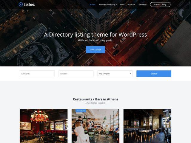 Listee – Directory Listing WordPress Theme
