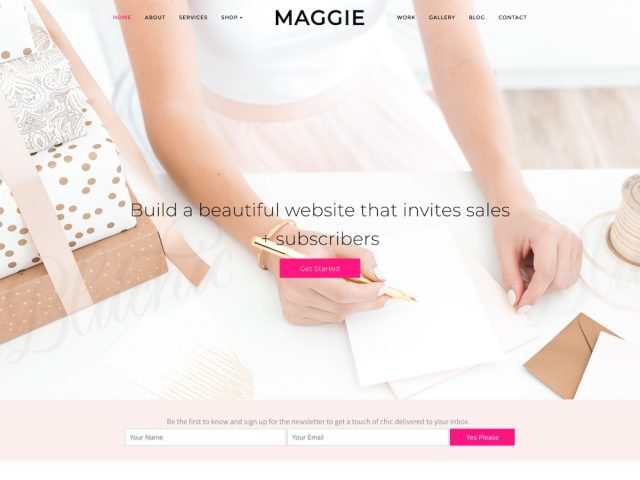 Maggie Feminine Business WordPress Theme