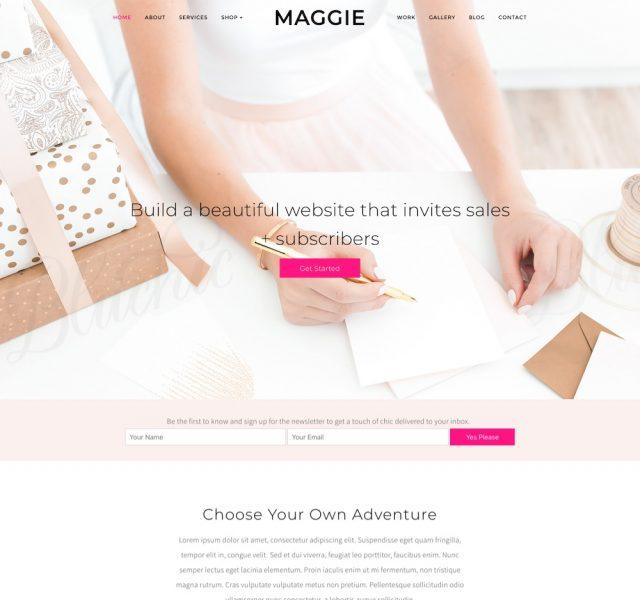 Maggie Feminine Business WordPress Theme