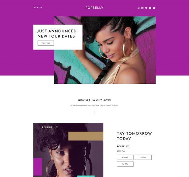 Popbelly Music WordPress Theme