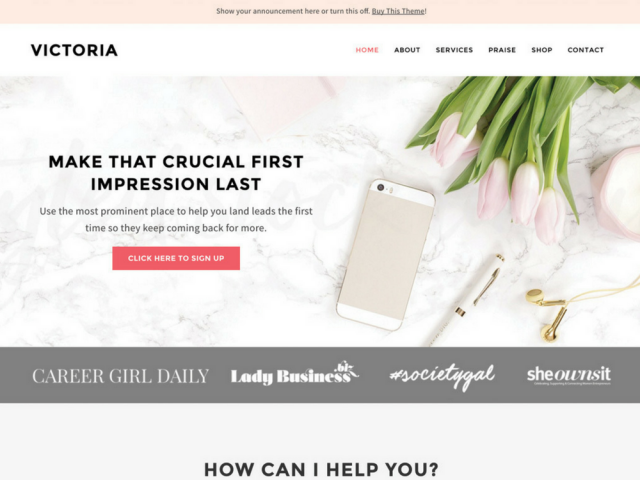 Victoria WordPress Theme