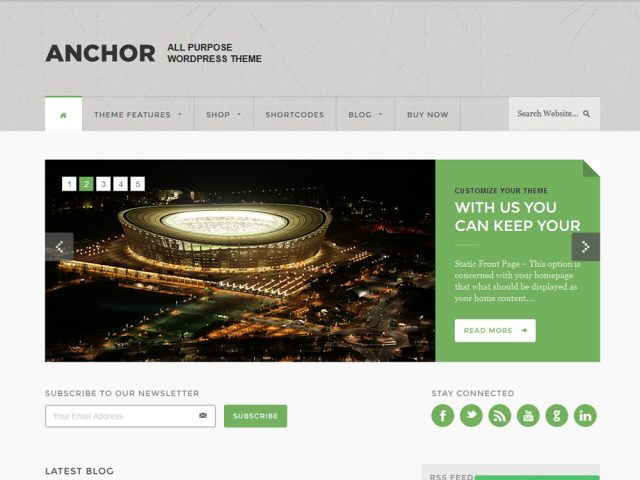 Anchor WordPress Theme