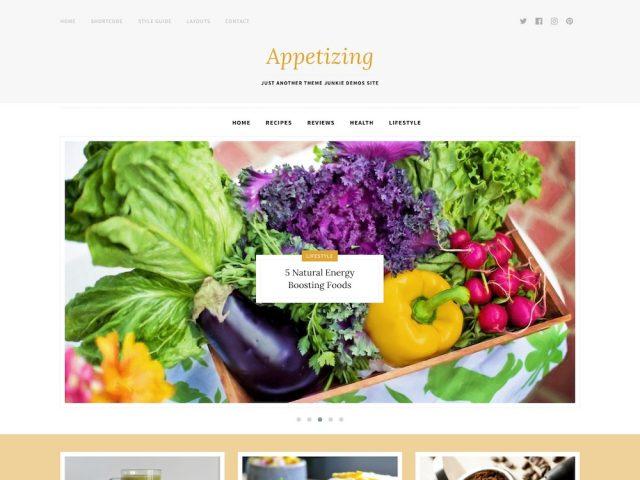 Appetizing – Food Blog WordPress Theme
