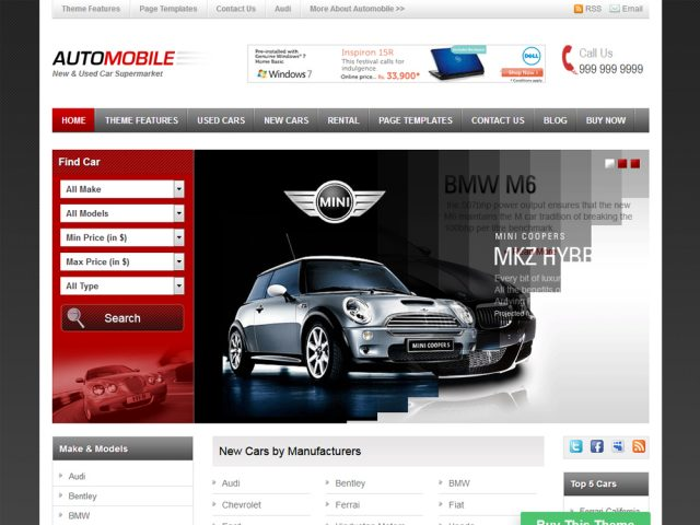 Automobile – Car WordPress Theme