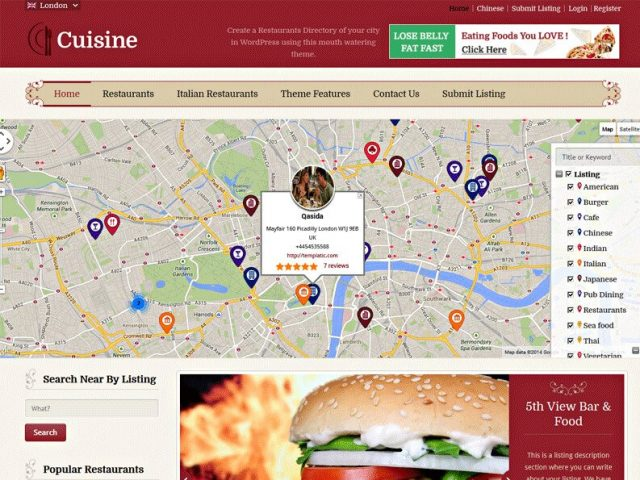 Cuisine – WordPress Food Directory Theme