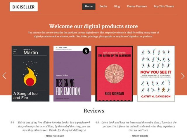 Digiseller – Book Author & Ebook Selling WordPress Theme