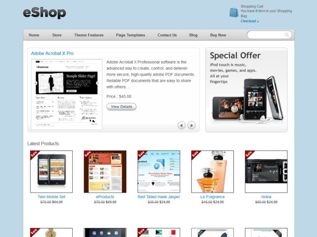 eShop – Shopping Cart Theme