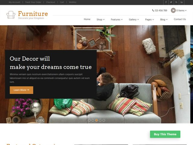 Furniture – WooCommerce WordPress Theme