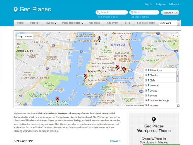 Geoplaces – Location Based WordPress Theme