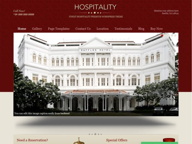 Hospitality- WordPress Hospitality Business Theme