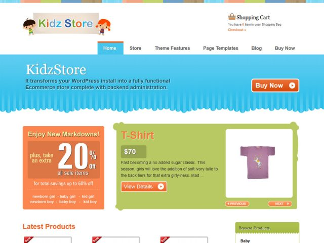 Kidzstore – WordPress eCommerce Theme