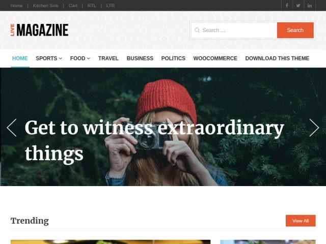 LiveMagazine WordPress Theme