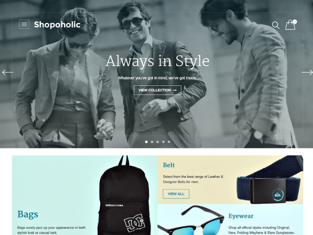 Shopoholic WordPress Theme
