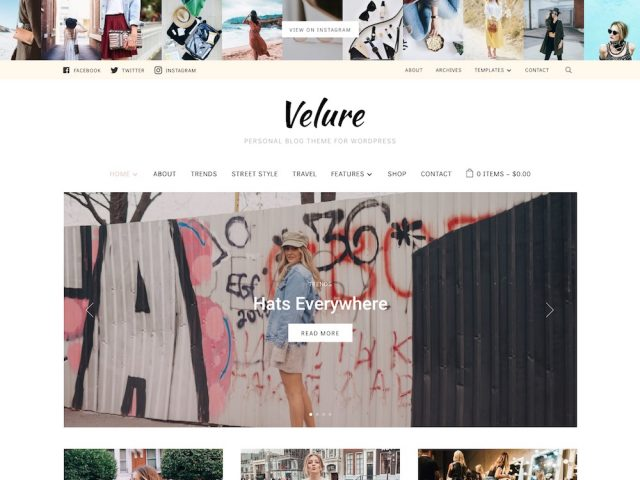 Velure – Fashion WordPress Theme