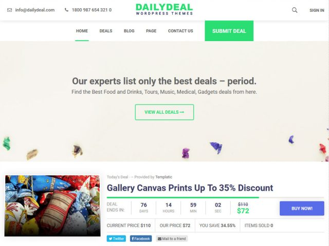 WP-Deal – Daily Deals & Coupon WordPress Theme