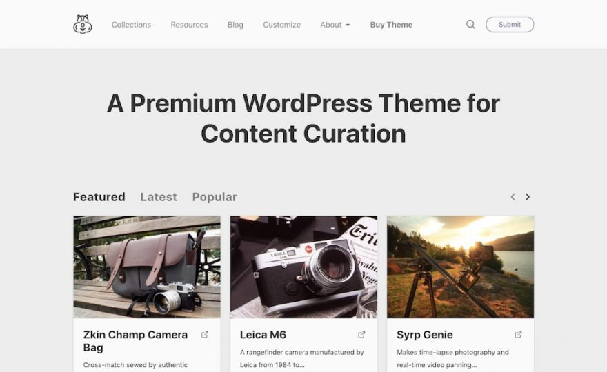 Content Curation & Social Voting WordPress Themes